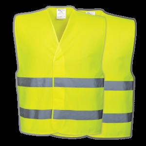 Gilet di sicurezza fluorescente